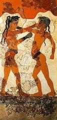 Boxers Fresco, Akrotiri, Santorini