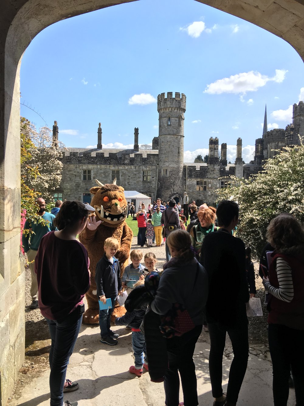 The Gruffalo welcomes visitors at Lismore Castle Entrance..JPG