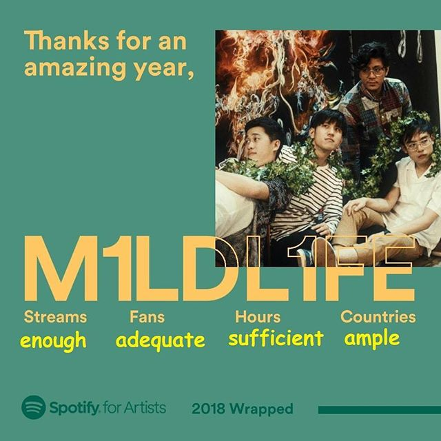 2018 has been pretty good to us! Amazing opportunities, new fans that became friends, and plenty of music. We constantly remind ourselves that it's not a numbers game, that we just have to keep the music interesting, fun, and hopefully stuff that you will enjoy listening to. Don't cave in to whatever pressure that's out there - you do you, and our promise to you is that we'll keep doing us. Thank you. ❤️ Oh, and new stuff soon-ish ✨ http://smarturl.it/m1ldl1fe