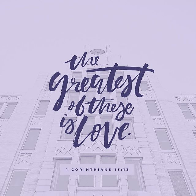 """""""The greatest of these is love"""" 1 Corinthians 13:13 🧡💚💙 Happy Valentine's Day from LCI! . . . . . #valentinesday #happyvalentinesday #valentinesday2019 #wordsofwisdom #bibleverse #lovesayings #lifechurchatl"""