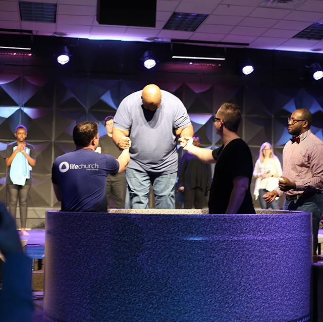 We're so grateful to share this moment with the 8 individuals who were made new today. #baptism #lifechurchatl #madenew