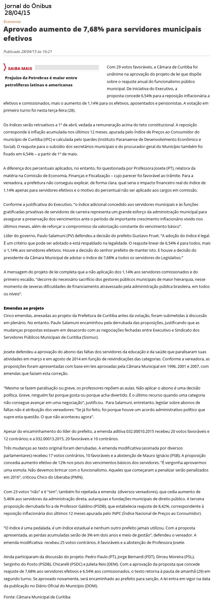 jornal do onibus 3004