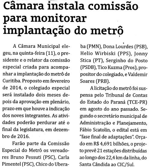 A gazeta Metropolitana 1606