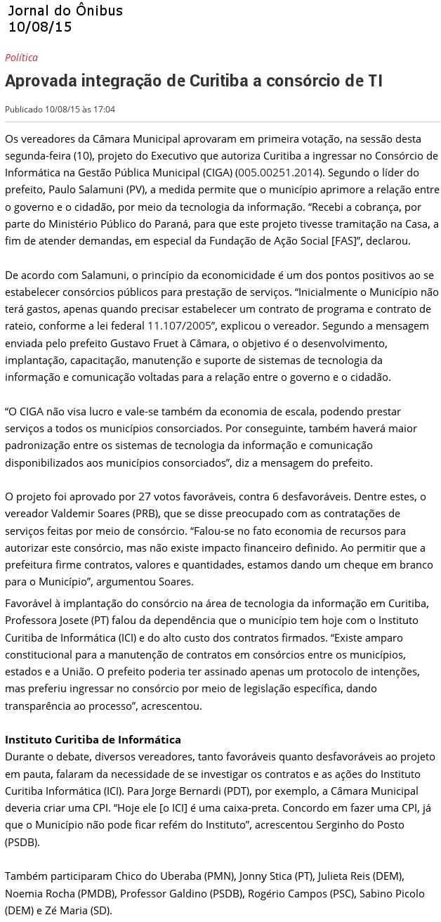 Jornal do onibus 11.08
