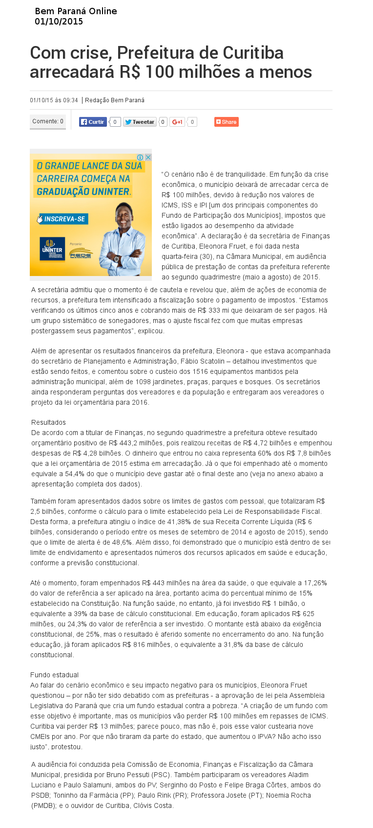 Bem Paraná Online 01.10