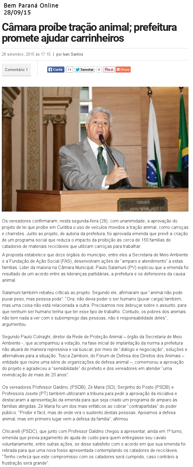 Bem Paraná Online 28.09