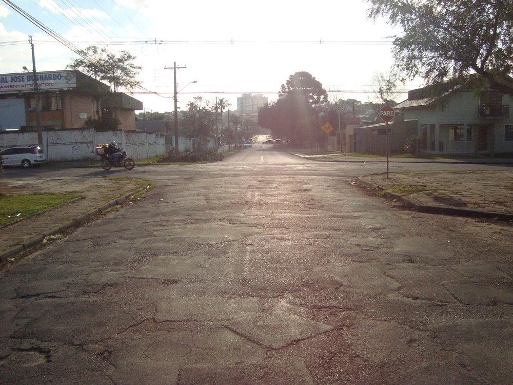 Rua Cel. Anibal dos Santos - ANTES
