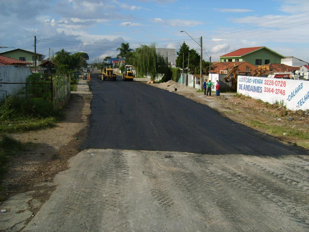 Pavimentação na Rua Alfredo Barcik - DEPOIS