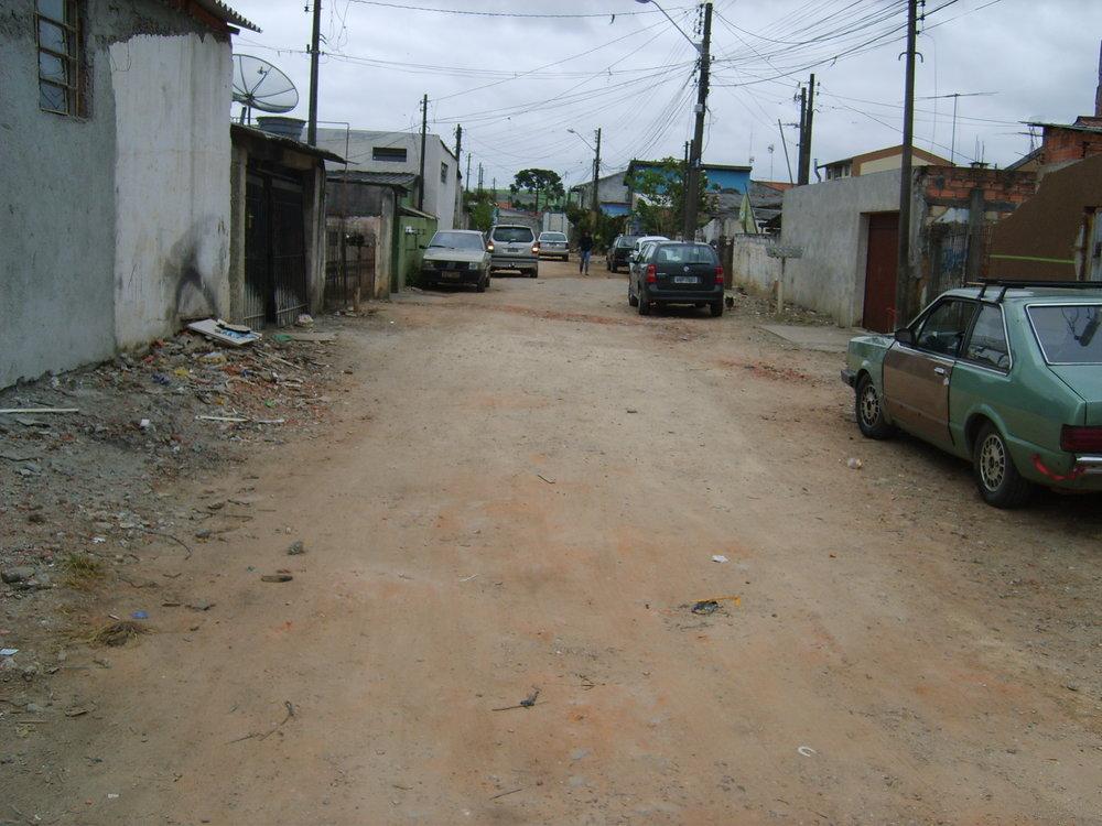 Pavimentação na Rua Gov. Algacir Guimarães - ANTES