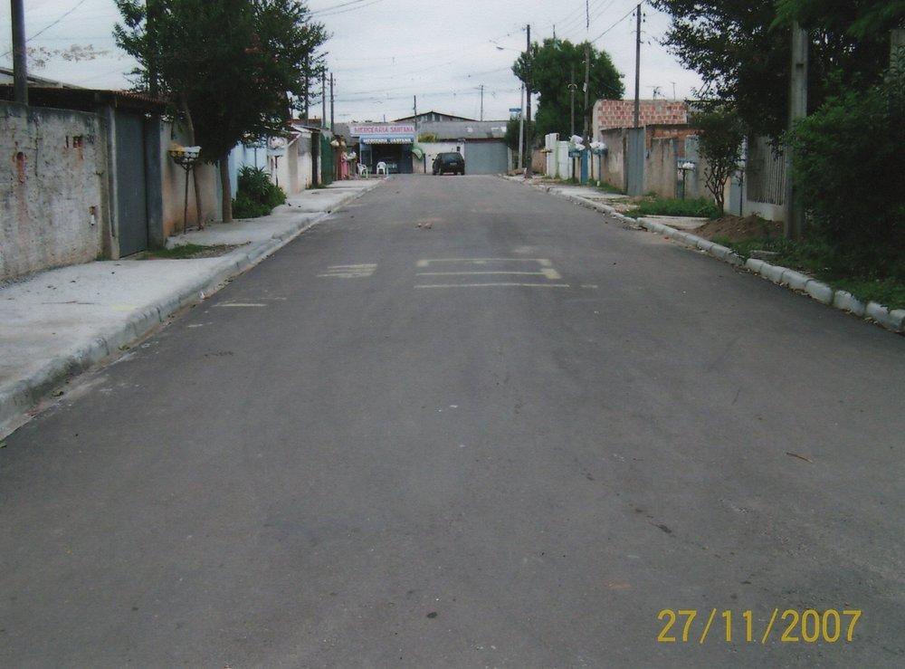 Pavimentação na Rua Hilton de Mattos Leão - DEPOIS