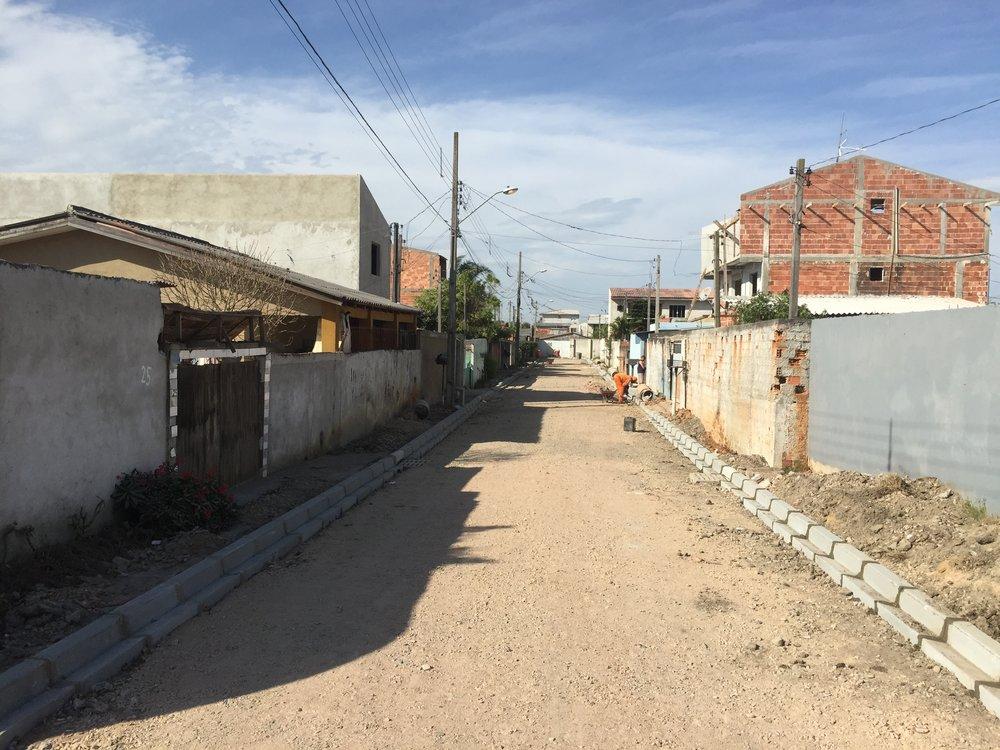 Pavimentação na Rua Josefina Simões Alves - ANTES