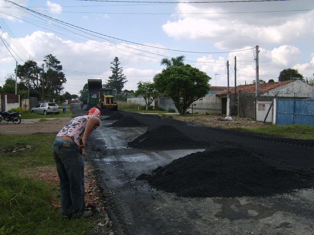 Recapeamento da Rua Dr. Hamilton Portugal Pereira - DURANTE A EXECUÇÃO