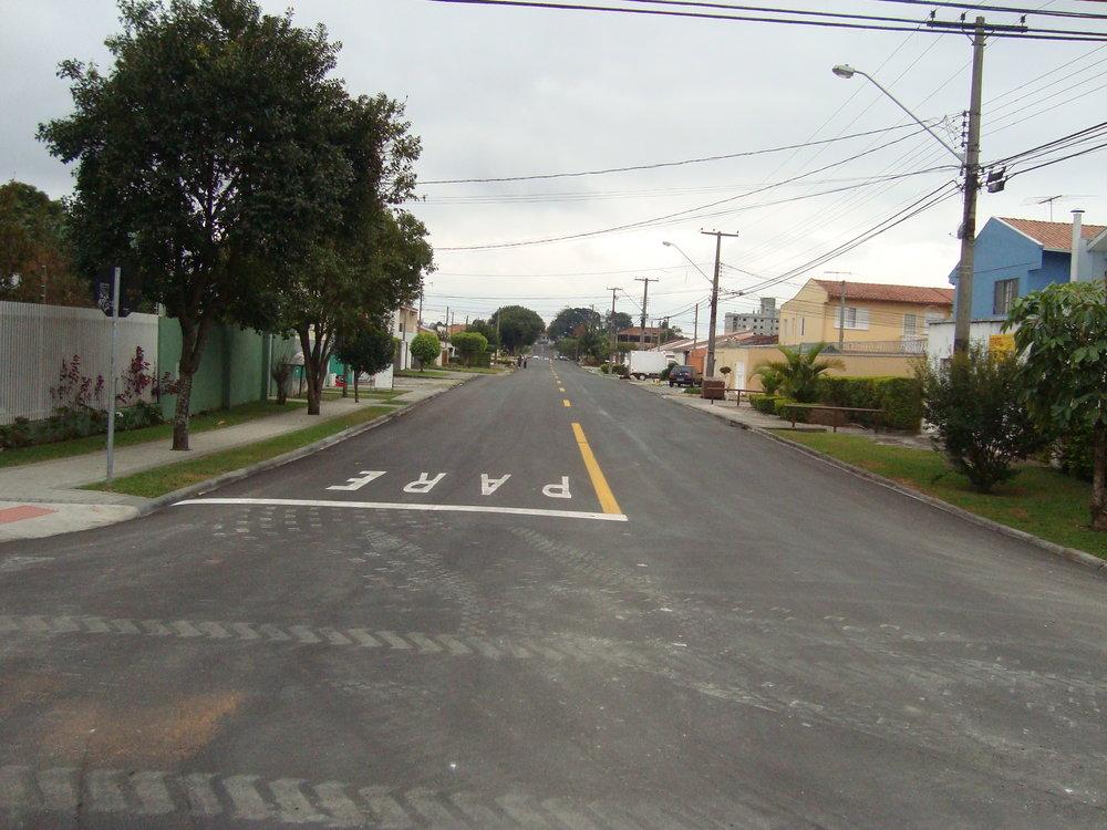 Reciclagem asfáltica da Rua Natal (trechos) - 2012