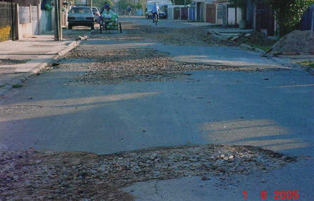 Revitalização da Rua Luiz Visinoni - ANTES