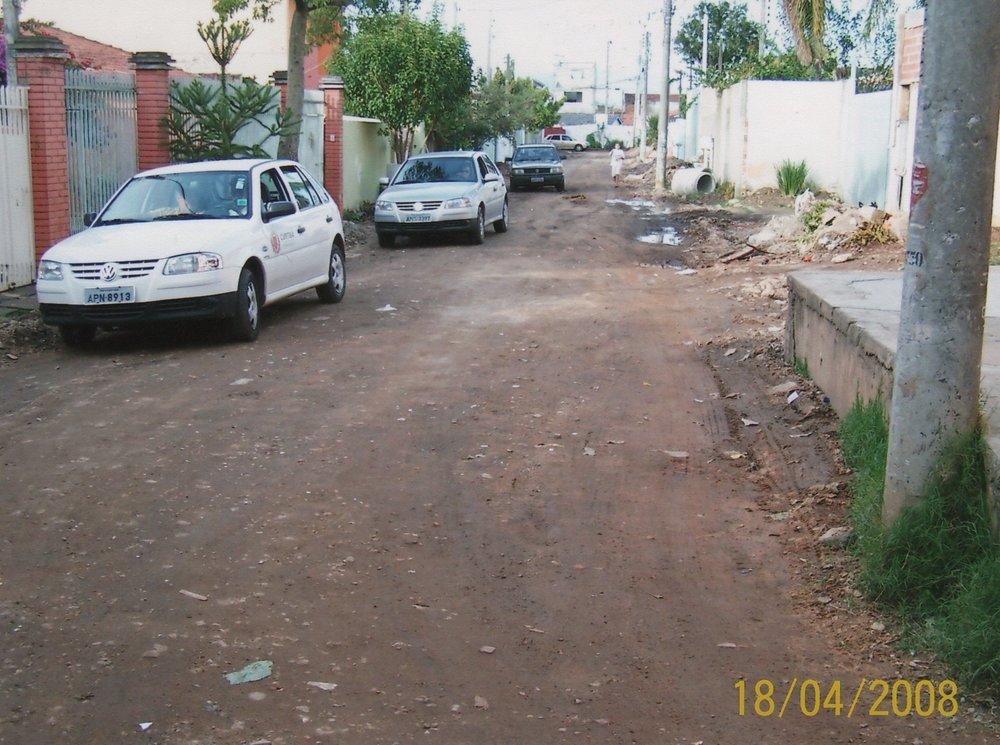 Pavimentação na Rua José Antônio dos Santos - ANTES