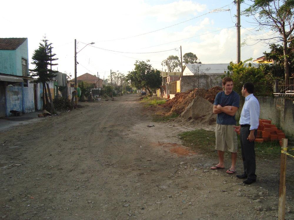 Pavimentação na Rua Lauro Pastre - ANTES
