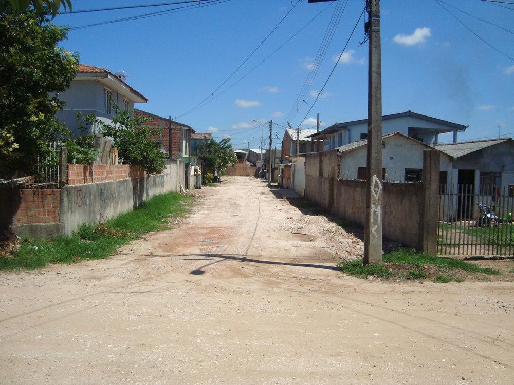 Pavimentação na Rua Leopoldo Unizycki - ANTES