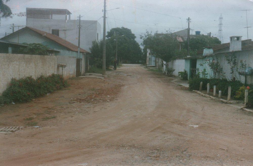 Pavimentação na Rua Maj. Antônio Ribeiro Vidal - ANTES
