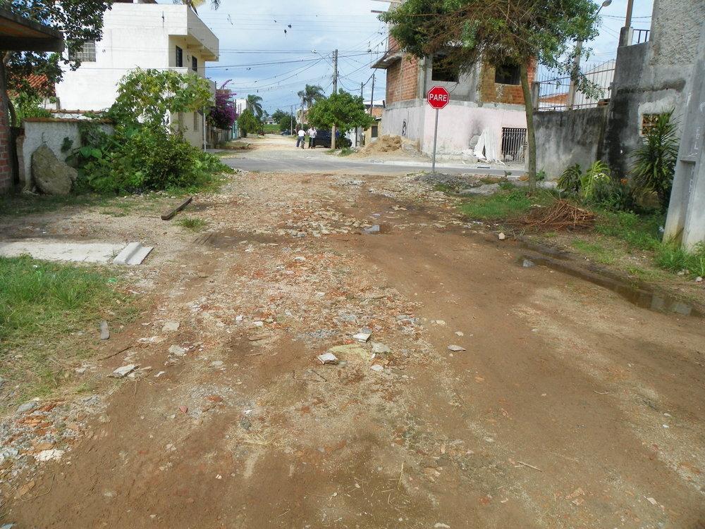 Pavimentação na Rua Prof. Rui José Rache - ANTES
