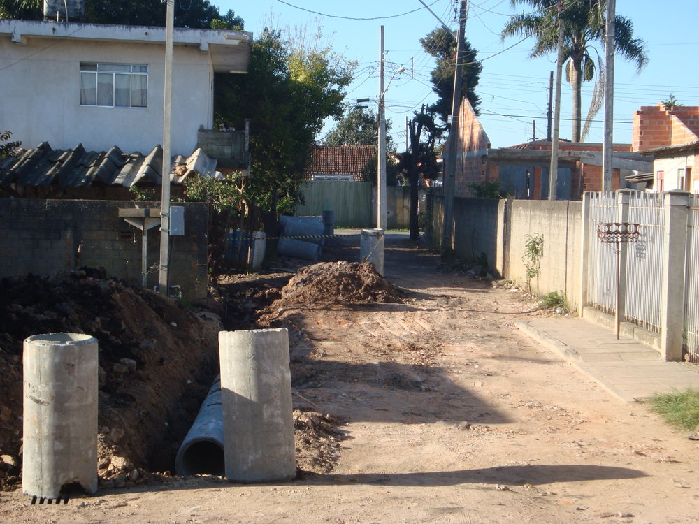 Drenagem na Rua Cecília Cubas