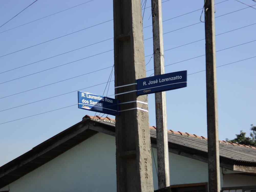 Nomeação e oficialização das ruas