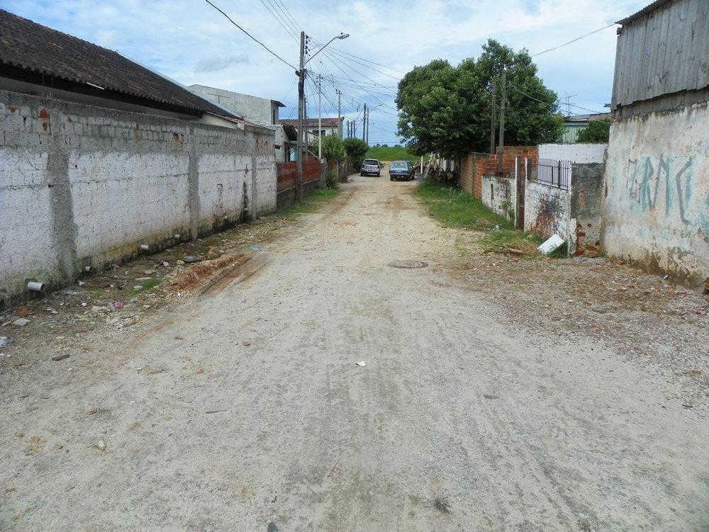 Pavimentação na Rua Jorn. Walfrido R. de Camargo - ANTES