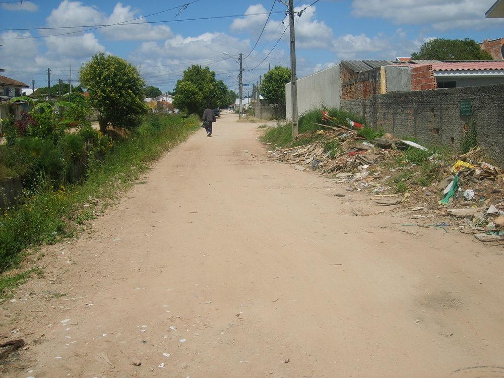 Pavimentação na Rua Liberato Evangelista do Prado - ANTES
