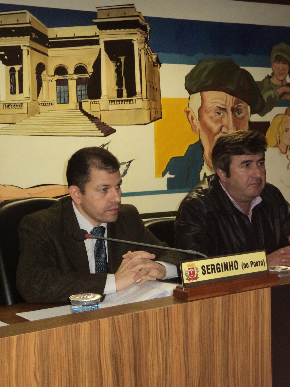 Durante seus mandatos, Serginho presidiu diversas Audiências Públicas na Câmara