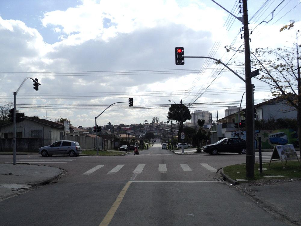 Semáforo na Rua Durval Pacheco de Carvalho com a Rua Maestro Francisco Antonello, Fanny