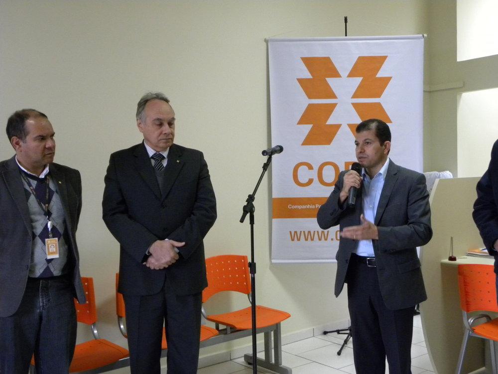 Inauguração do escritório da Copel