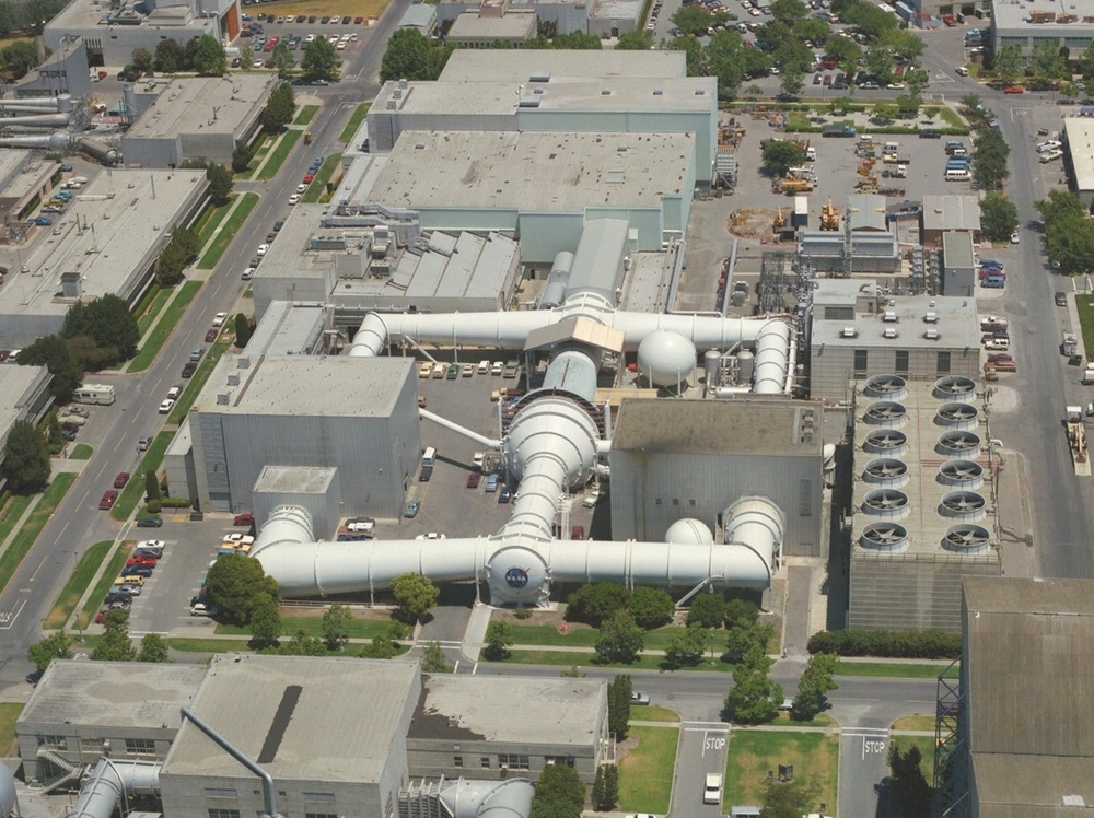 Aerial View of the  Unitary Plan Wind Tunnel  at NASA  Ames Research Center .  Image  source : NASA, Photographer-Roger Brimmer