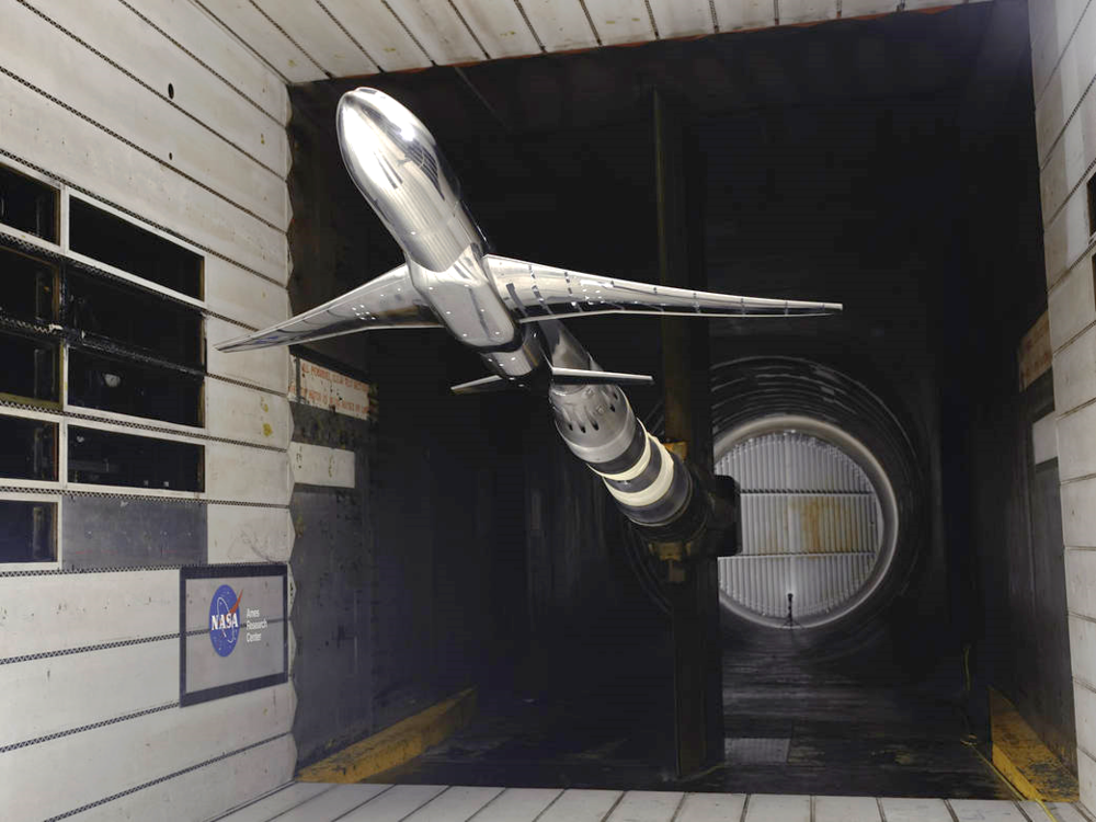 Common Research Wind Tunnel Model at NASA Ames Research Center.  Image source: NASA.