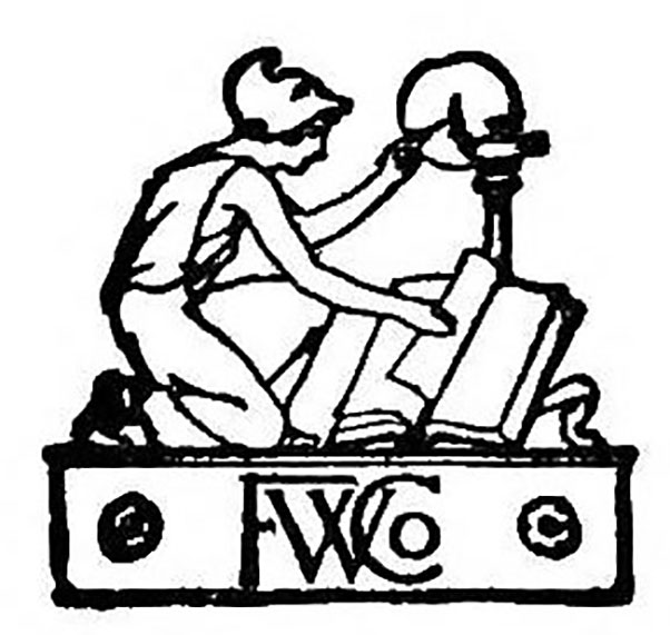 Logo of the Funk & Wagnalls Company, taken from the title page of Hoyt's New Cyclopedia Of Practical Quotations (1922). Image source:  Internet Archive  (also,  Funk & Wagnalls Company Logo (Hoyt, 1922).jpg ) by Funk & Wagnalls Company is licensed under  Public Domain Mark 1.0