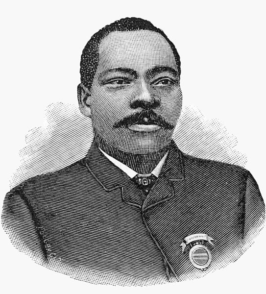 Granville T. Woods (1856-1910). Image source: Woodsgr.jpg (originally derived from Men of Mark: Eminent, Progressive and Rising, Pages 1-670 by William J. Simmons, Henry McNeal Turner, 1887, pp. 107) is licensed under Public Domain Mark 1.0