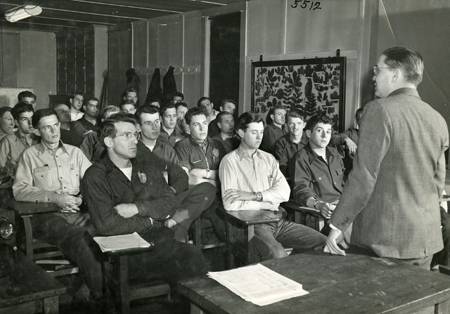 The Davey Institute of Tree Sciences, historical classroom image. Image source: The Davey Tree Expert Company, used with permission