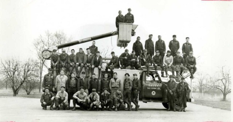 The Davey Truck Group, historical image. Image source:  The Davey Tree Expert Company, used with permission