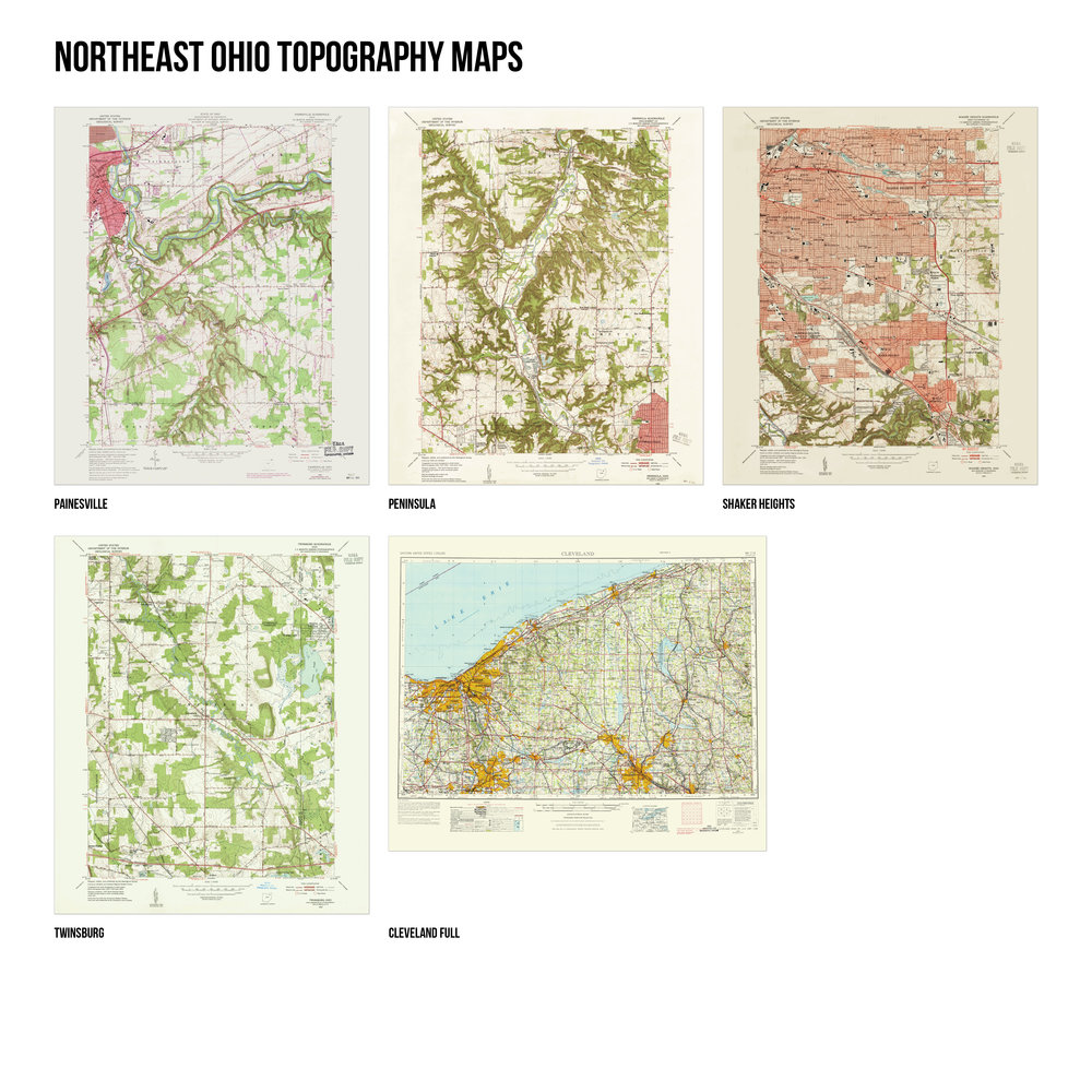 Topography Map Of Ohio.Northeast Ohio Topography Maps Cuyahoga Collective