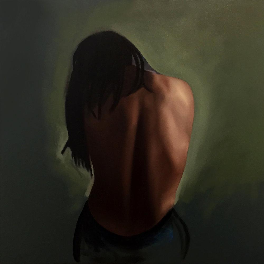 Self Portrait Back, oil on canvas, 30 x 30 copy.jpg