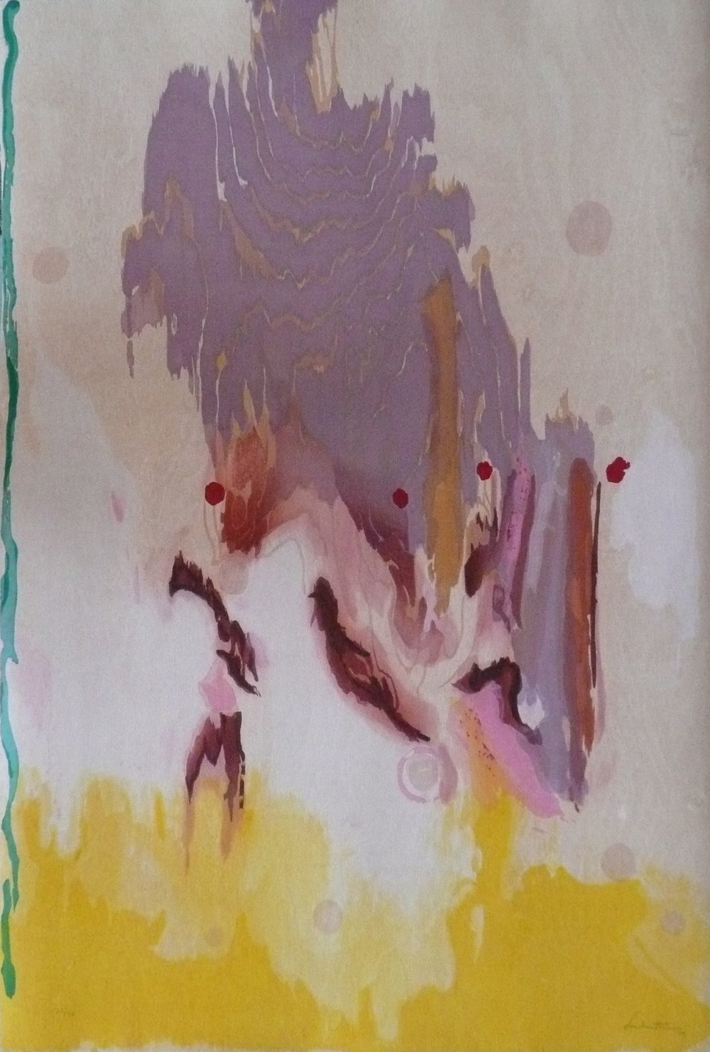 Abstract woodcut by Helen Frankenthaler