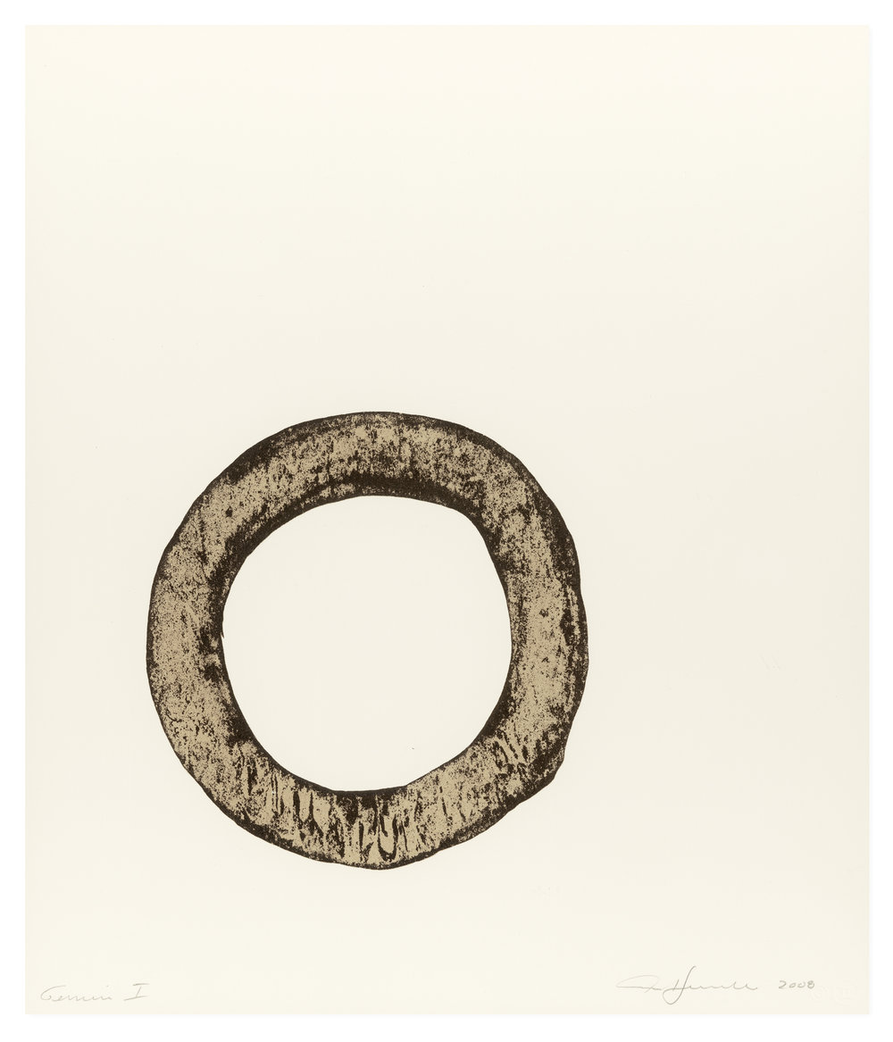 one-color lithograph titled O by ann hamilton