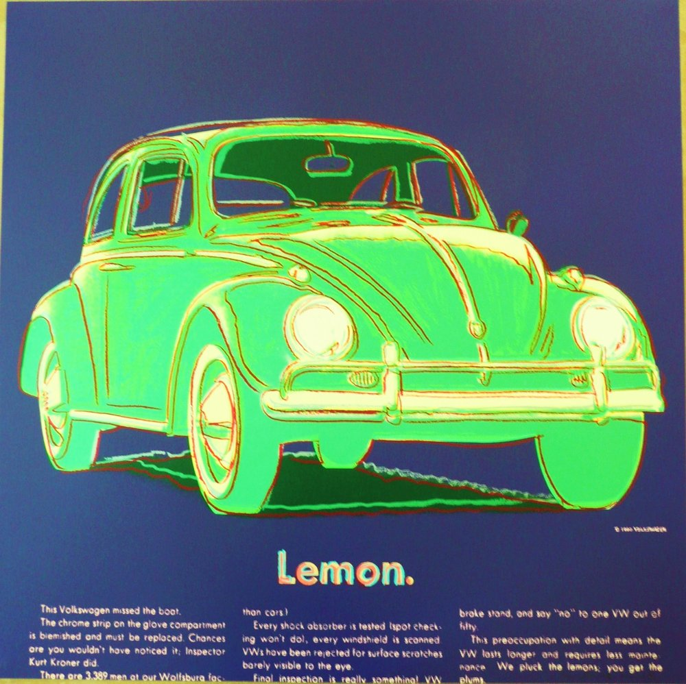 Andy Warhol - Volkswagen (From Ads) - Additional Information