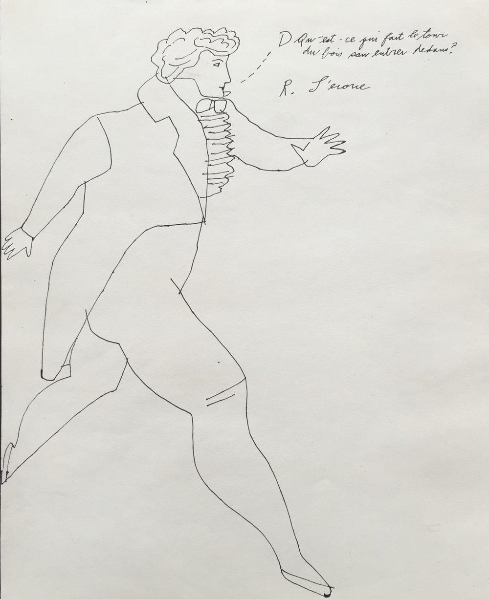 Andy Warhol - Striding Gentleman With Text - Additional Information
