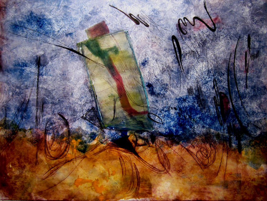 Michelle Talibah    The Third Day  monoprint