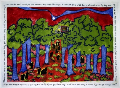 Faith Ringgold         Coming to Jones Road     Serigraph, 2004