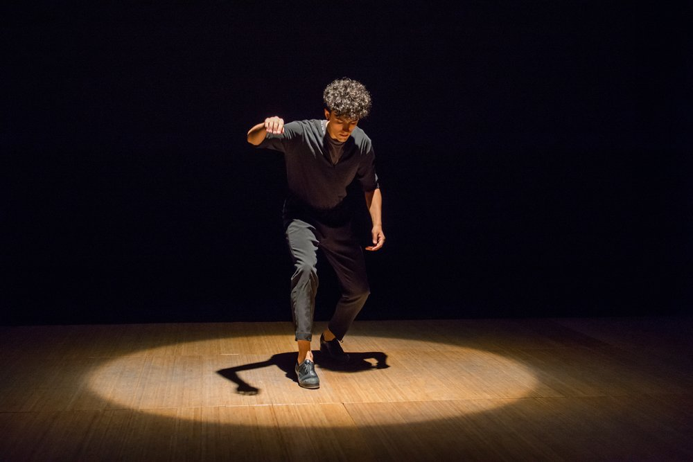 Caleb Teicher in Variations. Photo by Sally Cohn at The Yard.