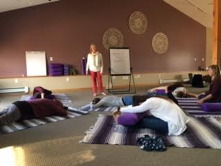 Yoga Therapy Group In Meditation