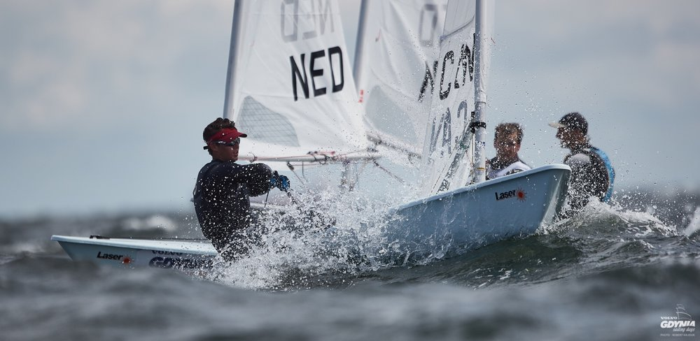Racing at the 2018 Laser U21 World Championship held in Gdynia, Poland. Thanks to the generous donations from my Sponsors and Sail Team Bruce Supporters, including Port Credit Yacht Club.