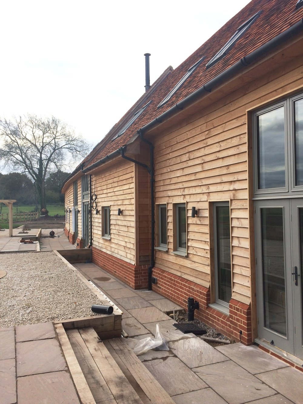 Rear of Whaddon with new landscaping