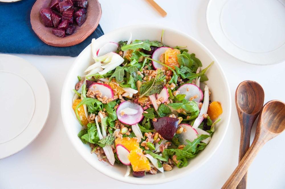 farro-beet-arugula-salad-fried-parsley