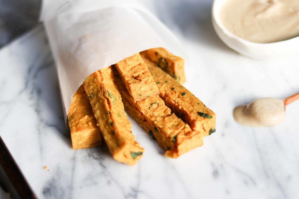 baked chickpea fries by fried parsley